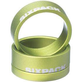 "Sixpack Menace Spacer 1 1/8"", electric green"